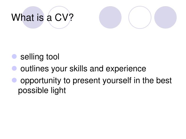 What is a CV?