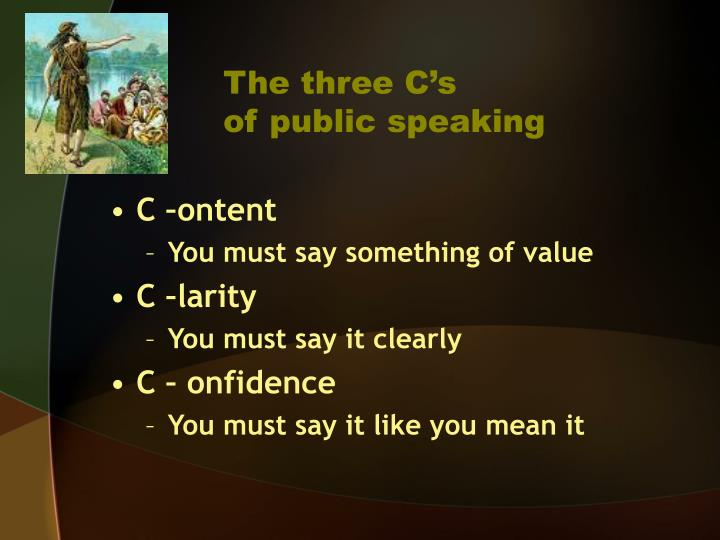 The three C's