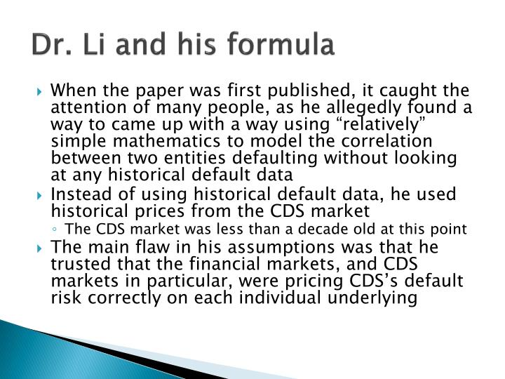 Dr. Li and his formula
