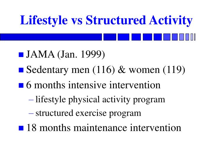 Lifestyle vs Structured Activity
