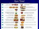 quiz time consumer reports fat comparison