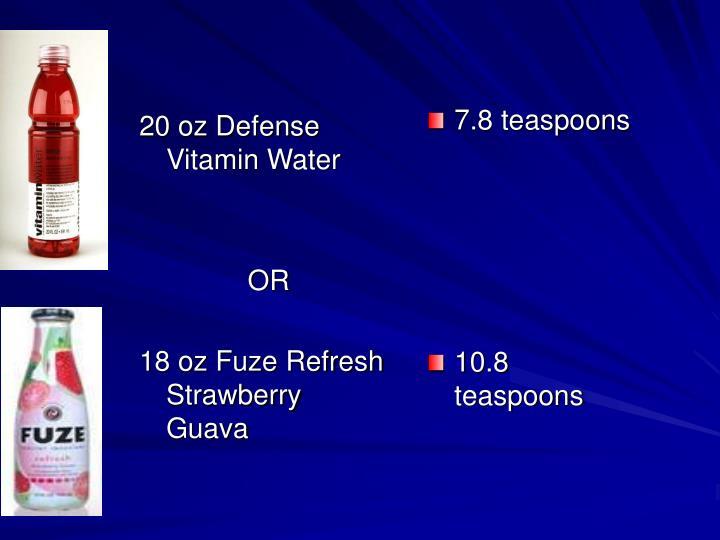 20 oz Defense Vitamin Water