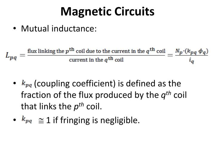 Magnetic Circuits