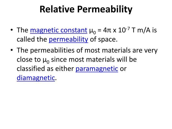 Relative Permeability