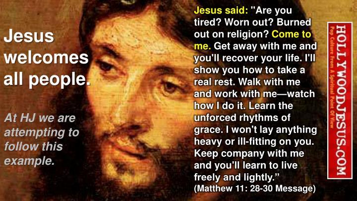 Jesus said: