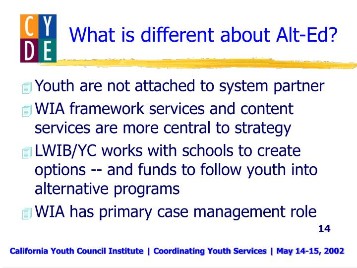 What is different about Alt-Ed?