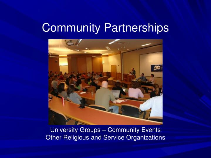 Community Partnerships