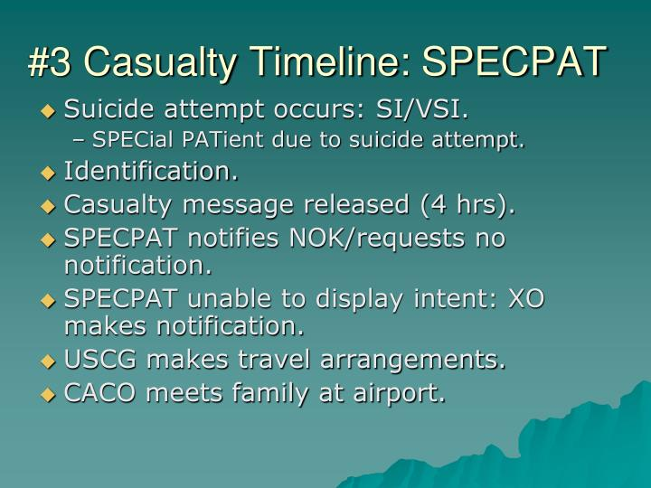 #3 Casualty Timeline: SPECPAT