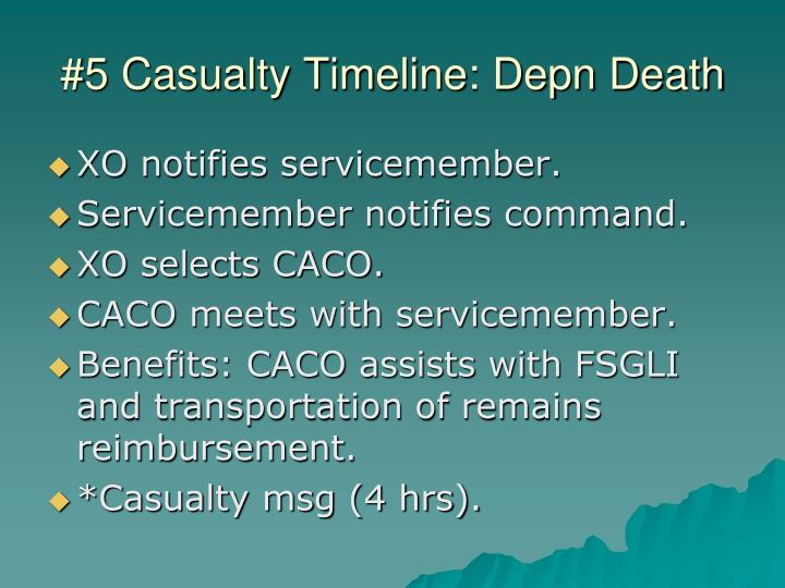 #5 Casualty Timeline: Depn Death