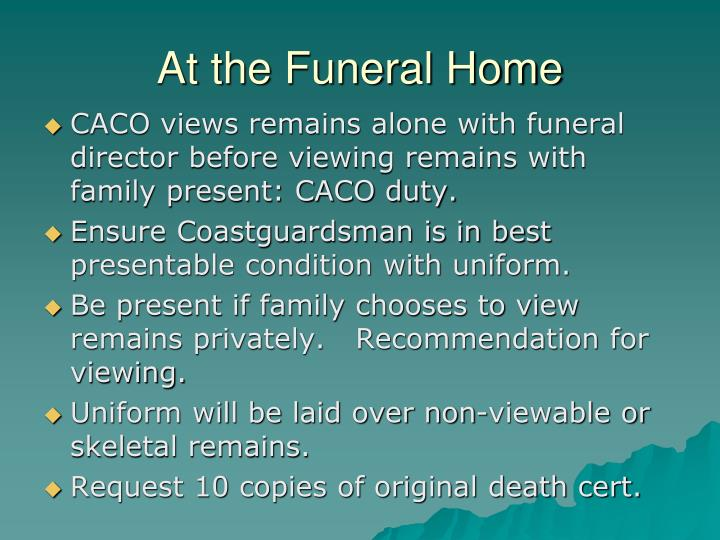 At the Funeral Home