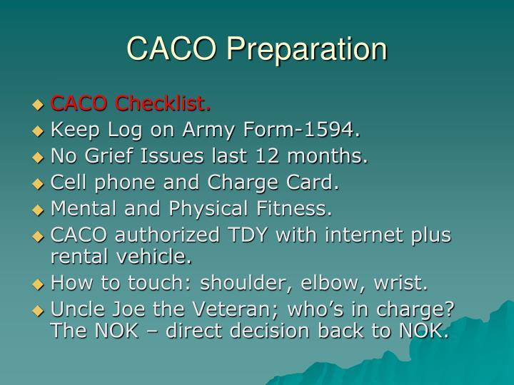 CACO Preparation