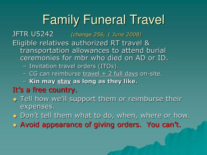 Family Funeral Travel