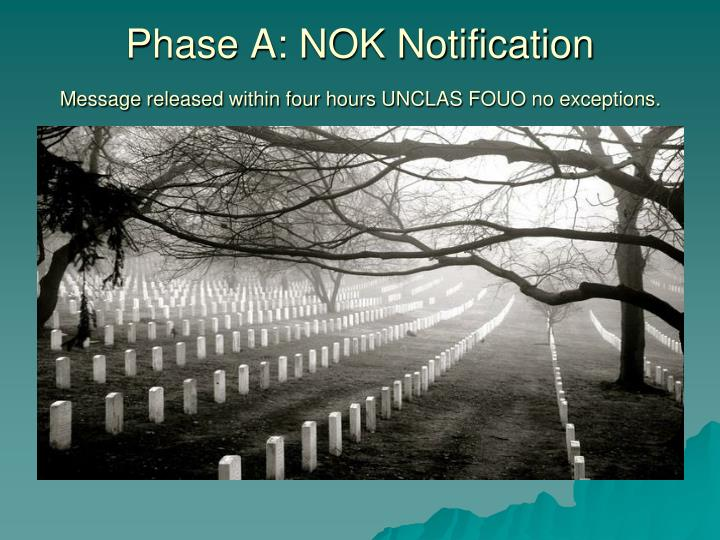 Phase A: NOK Notification