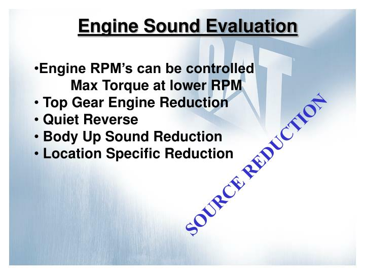 Engine Sound Evaluation