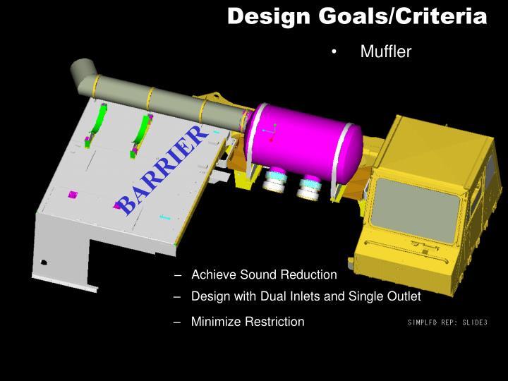 Design Goals/Criteria