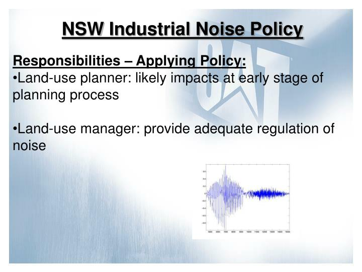NSW Industrial Noise Policy