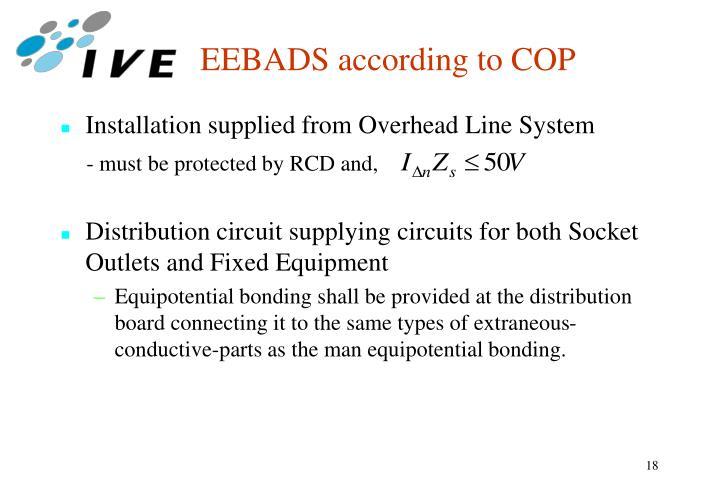 EEBADS according to COP