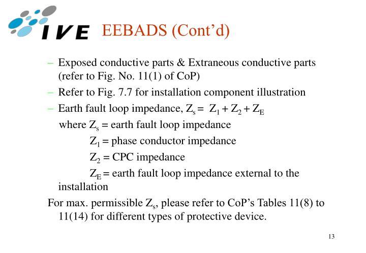 EEBADS (Cont'd)