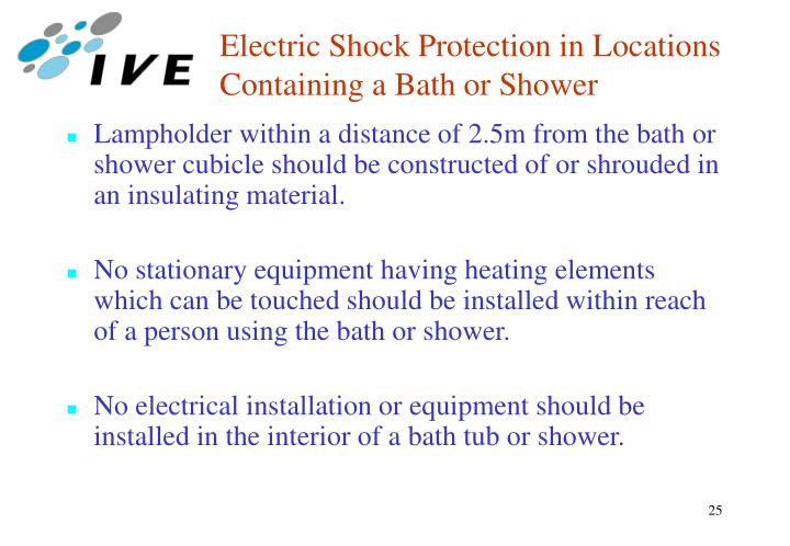 Electric Shock Protection in Locations Containing a Bath or Shower
