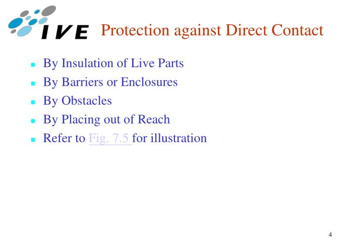 Protection against Direct Contact