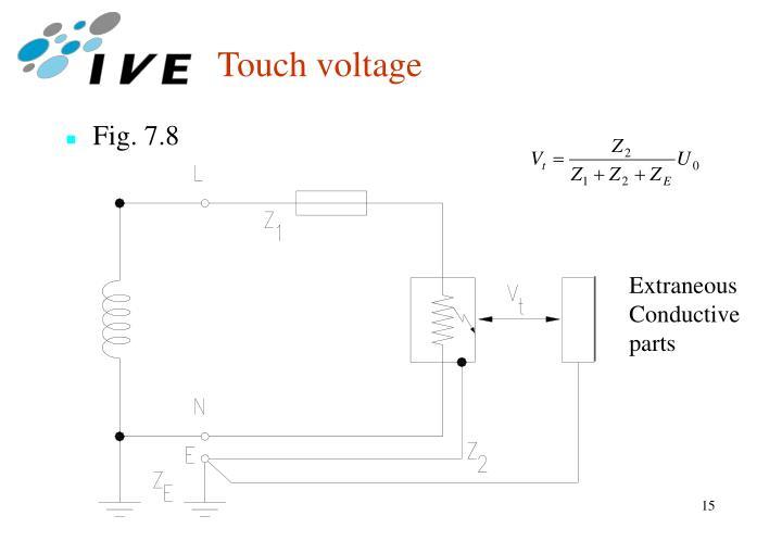 Touch voltage