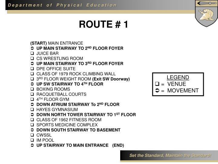 ROUTE # 1