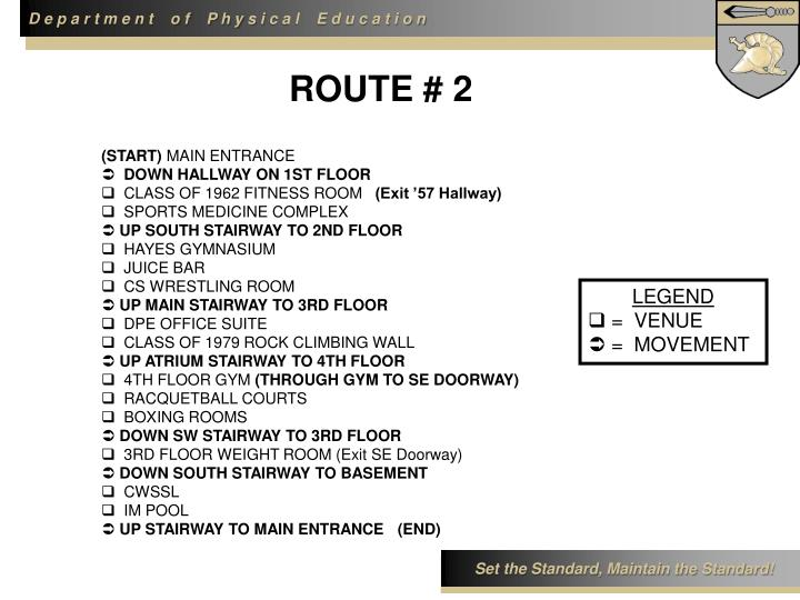 ROUTE # 2