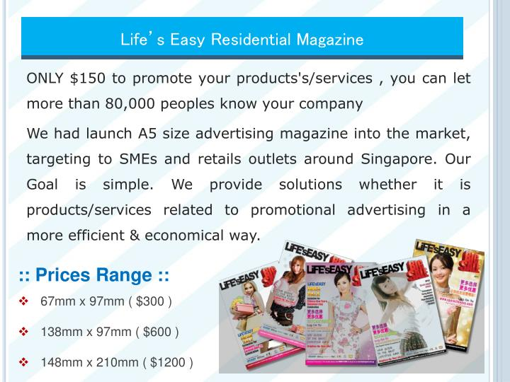 Life's Easy Residential Magazine