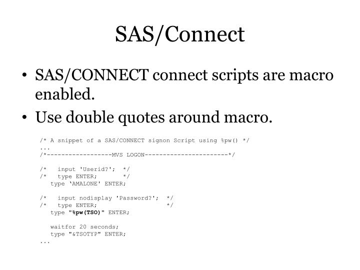 SAS/Connect