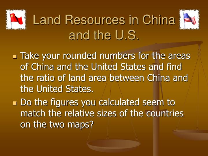 Land Resources in China