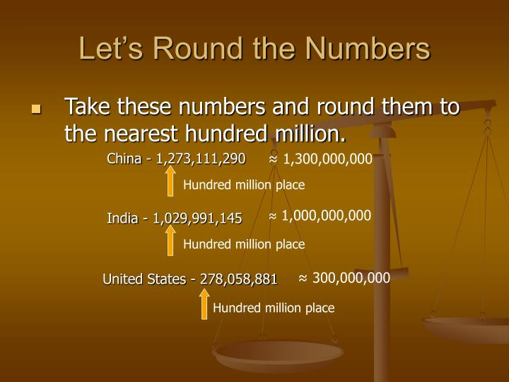 Let's Round the Numbers