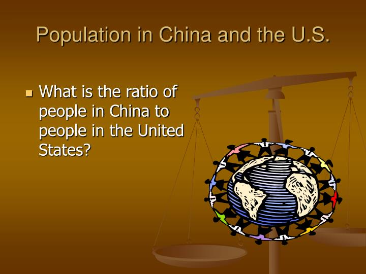 Population in China and the U.S.