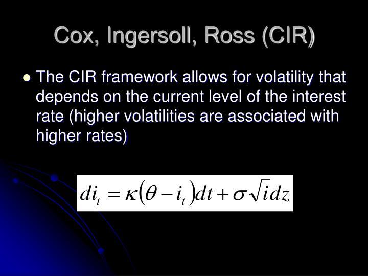 Cox, Ingersoll, Ross (CIR)