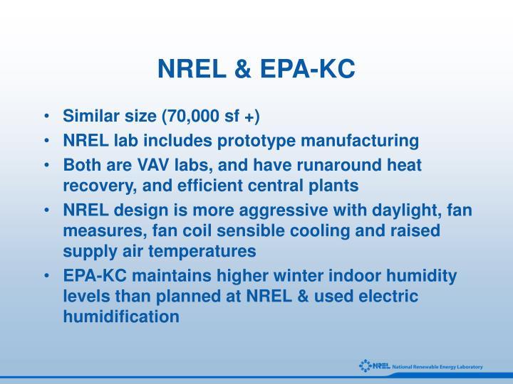 NREL & EPA-KC