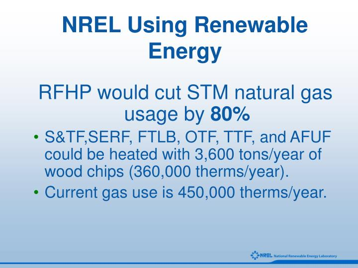 NREL Using Renewable Energy