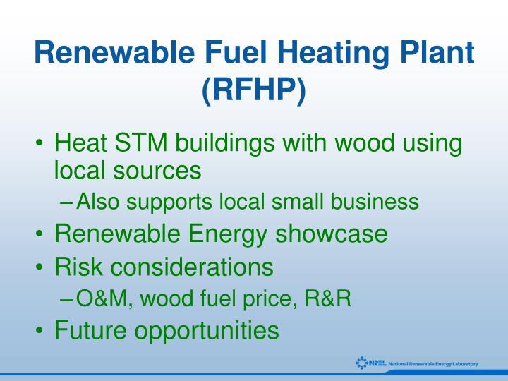 Renewable Fuel Heating Plant (RFHP)