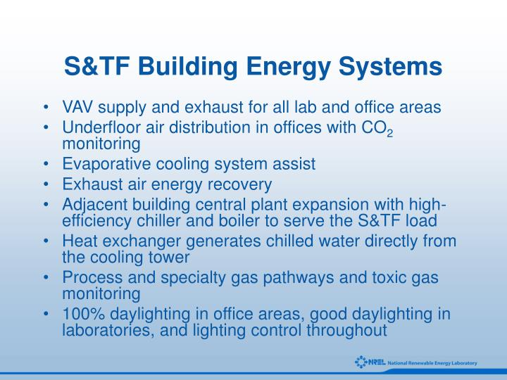S tf building energy systems