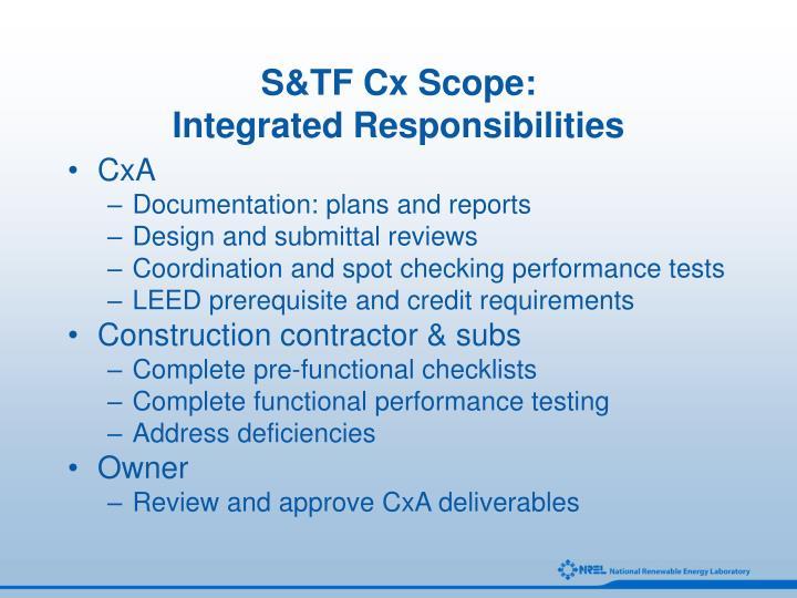 S&TF Cx Scope: