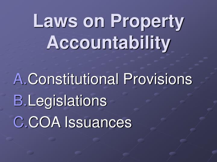 Laws on property accountability
