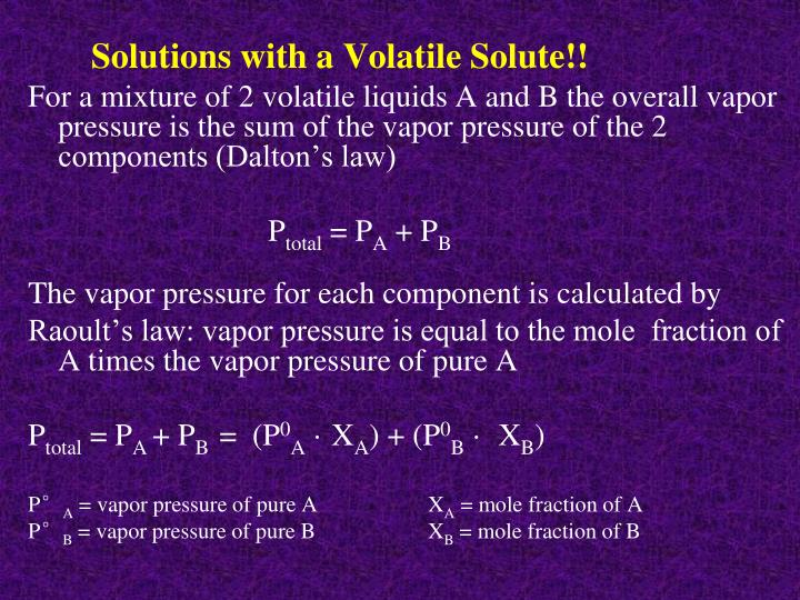 Solutions with a Volatile Solute!!