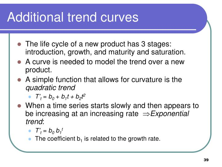 Additional trend curves