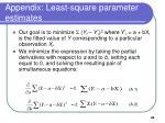 appendix least square parameter estimates