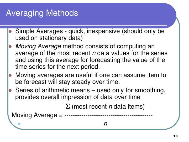 Averaging Methods
