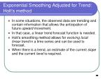 exponential smoothing adjusted for trend holt s method