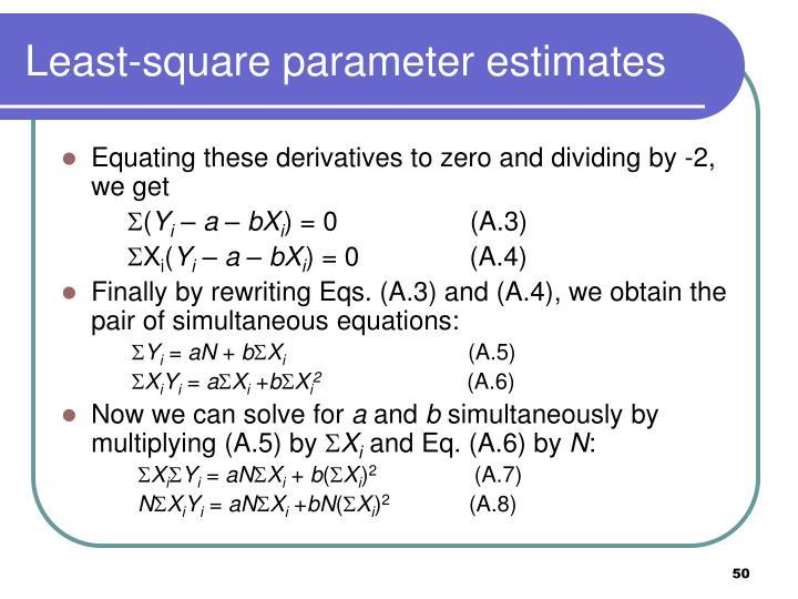 Least-square parameter estimates