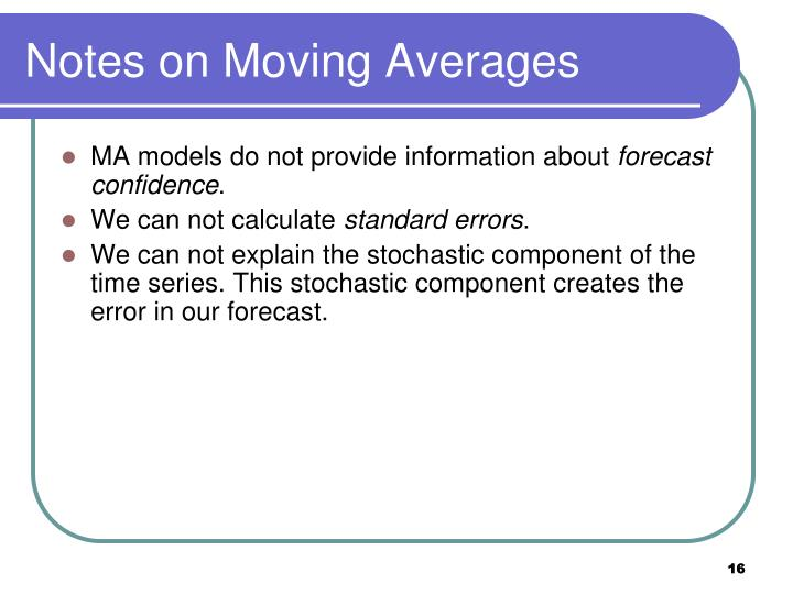 Notes on Moving Averages