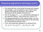seasonal adjustment technique cont1