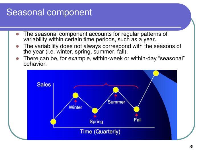 Seasonal component