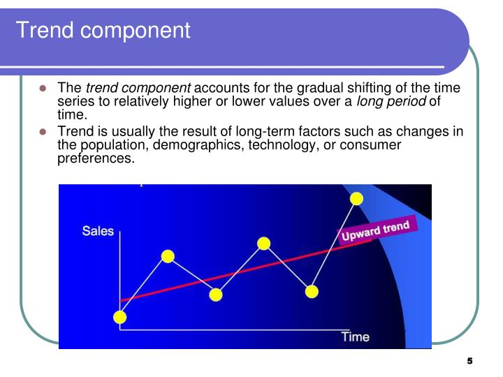 Trend component