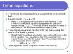 trend equations